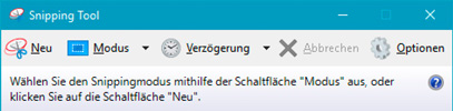 Snipping Tool - Ansicht