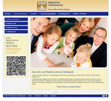 Reference to project Allgemeine Fachberatung <small>Website & CMS</small> (1/5)