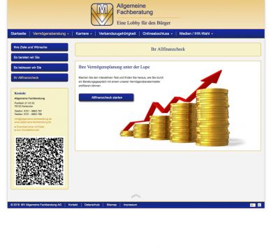 Reference to project Allgemeine Fachberatung <small>Website & CMS</small> (2/5)