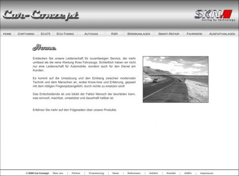 Reference to project Car-Conzept <small>Website</small> (2/5)