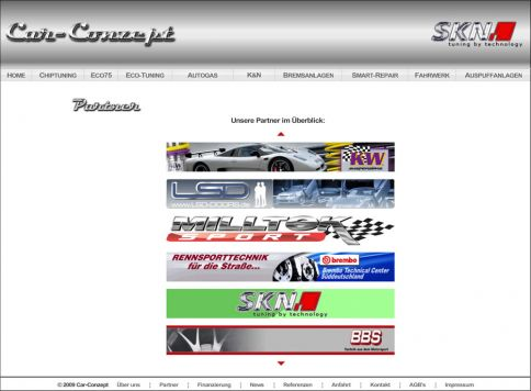 Reference to project Car-Conzept <small>Website</small> (4/5)