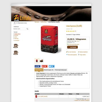 Reference to project Crifalu <small>Website & Shop</small> (3/5)