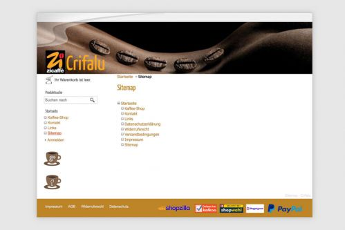 Reference to project Crifalu <small>Website & Shop</small> (4/5)