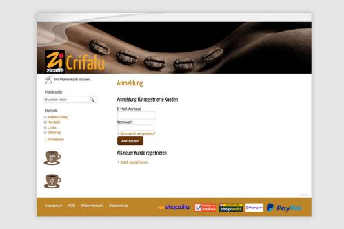 Reference to project Crifalu <small>Website & Shop</small> (5/5)
