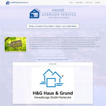 Reference to project Hamer facility service <small>Website & CMS</small> (5/5)