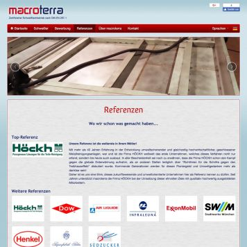 Reference to project Macroterra <small>Website</small> (4/5)