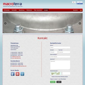 Reference to project Macroterra <small>Website</small> (5/5)