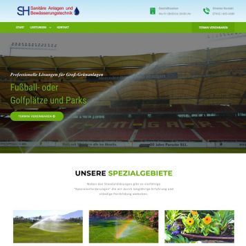 Reference to project SH Sanit&auml;r <small>Website</small> (1/5)