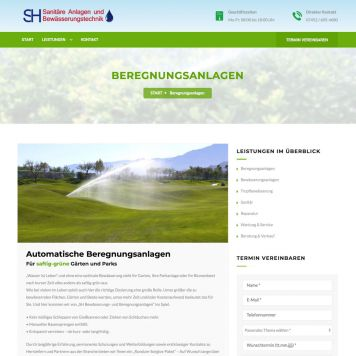 Reference to project SH Sanit&auml;r <small>Website</small> (4/5)