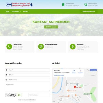 Reference to project SH Sanit&auml;r <small>Website</small> (5/5)