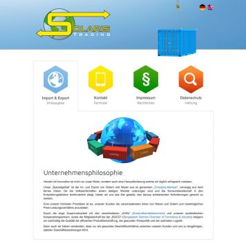 Reference to project Solaris Trading <small>Website</small> (1/4)